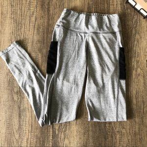 PopFit Gray & Black Leggings EUC